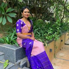 Bridal Silk Saree, Silk Sarees, Saree Blouse, Sari, Saree Collection, I Am Happy, Blouse Designs, Hand Embroidery, Bride