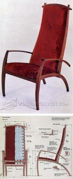 Armchair Plans - Furniture Plans and Projects | WoodArchivist.com