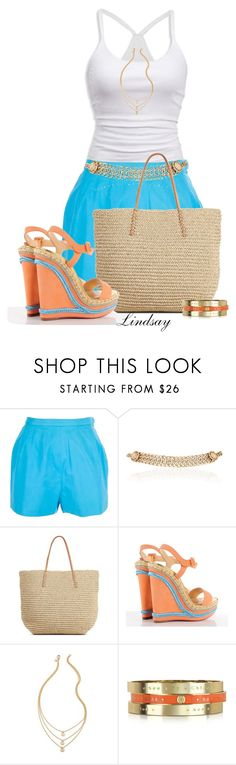 """""""Christian Louboutin Calf Rope Cataclou Wedges"""" by lindsayd78 ❤ liked on Polyvore featuring American Eagle Outfitters, Emilio Pucci, Maison Mayle, Target, Christian Louboutin and See by Chloé"""