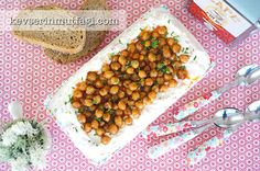 Chickpea Salad With Yogurt Recipe - Turkish Style Cooking Chicken Lentil Soup, Lentil Soup Recipes, Red Lentil Soup, Turkish Recipes, Ethnic Recipes, Turkish Delight, Yogurt Recipes, Chickpea Salad, How To Cook Chicken