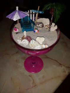Mini Beach in Margarita glass