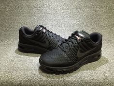 26d27422e0 Happy with Hot Nike Air Max 2017 Triple Black Sneakers Air Max Sneakers,  Nike Sneakers