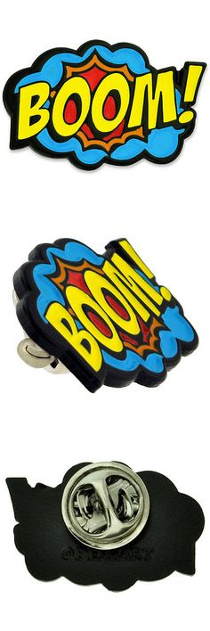 Pins And Brooches 50677: Pinmarts Boom! Comic Book Art Enamel Lapel Pin BUY  IT