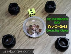 St. Patrick's Day Pot of Gold Counting Game via http://www.pre-kpages.com