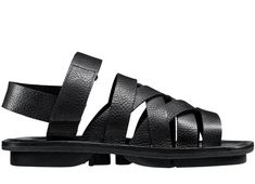 Trippen's Nepal is a crossover, multi-strap sandal made with vegetable tanned pep leather. It features a heel strap and Velcro closure. The rubber sole is stitc