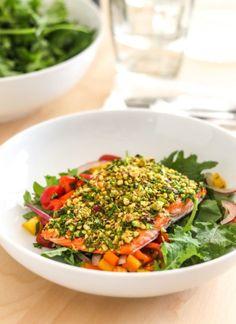 Pistachio Herb Crusted Salmon