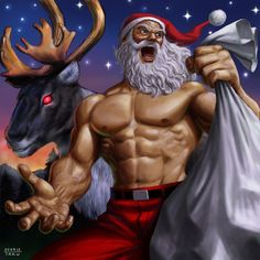 Santa is ready for the war on Christmas!