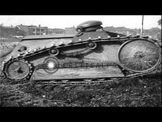 WWI Ford 3-ton (two man) Tank Trials. HD Stock Footage - YouTube