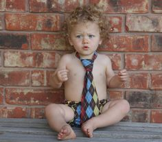 Argyle Diaper Cover and Necktie by mylittlemookie on Etsy, $21.00