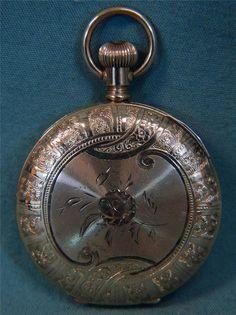 "Elgin 14K Gold Pocket Watch ""Mascot"" 1889 Beautiful! from statetheatre on Ruby Lane"