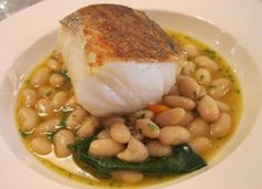 Salt Cod, Beans, Spinach