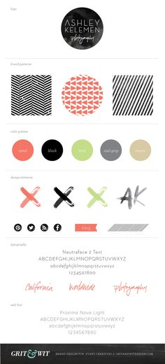Photographer Branding // Grit  Wit Brand Design for Event Creatives