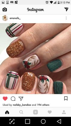 Xmas Nails, Holiday Nails, Christmas Nails, Pedicure Ideas, Finger Nail Art, Christmas Nail Art Designs, Nail Inspo, All Things Beauty, Nails Design