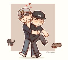 Hollywood Undead❤️ J3T and Jdog Chibis