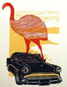 Sheyne Tuffery BB Moa Buick Print Art NZ Nz Art, Archetypes, Printmaking, Symbols, Animation, Art Prints, Gallery, Mural Ideas, Artwork