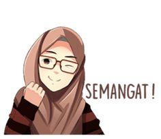 A sticker about beautiful women wearing a hijab. by Jaenal Arifin.
