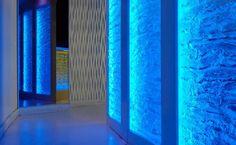 cool glass walls..