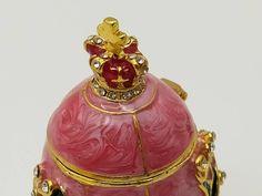 Rabbit Cake, Faberge Eggs, Lily Of The Valley, Lilies, Czech Glass, Art Nouveau, Perfume Bottles, Enamel, Brass