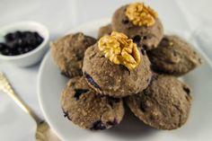 Saftige Blaubeer-Muffins (vegan, fettarm & glutenfrei)