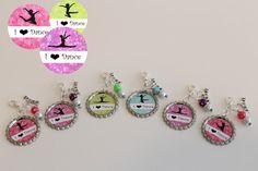 Dance Team Favors - Dance Keychains - Dance Charm - Dance Recital Gift - Set of 6 - Free Customization