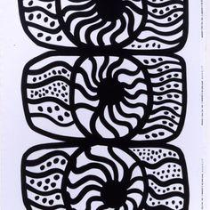 Nooa black-white interior fabric by Marimekko Graphic Patterns, Color Patterns, Print Patterns, Marimekko, Textile Design, Fabric Design, Black And White Interior, Black White, Pottery Painting