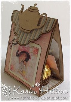 Eid Crafts, Diy And Crafts, Paper Crafts Origami, Paper Crafting, Spellbinders Cards, Creative Gift Wrapping, Tea Gifts, Diy Projects To Try, Craft Projects
