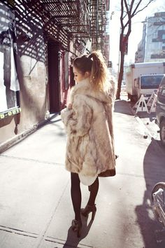 One day I'll either own a faux fur coat, or need one.