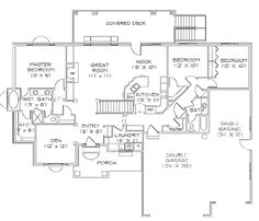 Simple rambler house plans with three bedrooms small for Rambler floor plans with basement