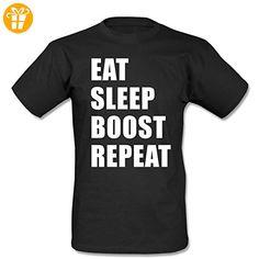 Eat Sleep Boost T-Shirt Men Schwarz-XXL (*Partner-Link)