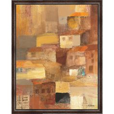 Found it at Wayfair - Abstract Tuscan Village I Framed Painting Print