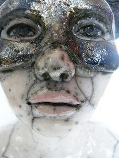 sculpture céramique raku //detail