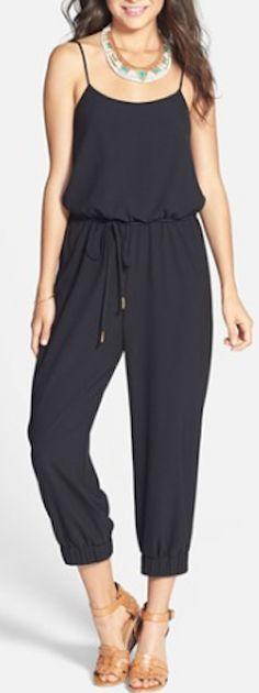 cute #black drawstring waist jumpsuit http://rstyle.me/n/ikzgmr9te