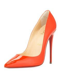 X2W03 Christian Louboutin So Kate Patent 120mm Red Sole Pump, Cappucine.  Love! Love! Love!