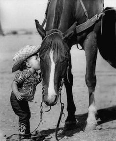 All horses deserve, at least once in their lives, to be loved by a little boy.