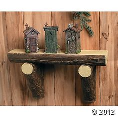 Terry's Village is your source for affordable home decor, holiday decorations, collectibles and gifts! Outhouse Bathroom, Outhouse Decor, Outhouse Ideas, Washroom, Fairy Room, Rustic Farmhouse Decor, Rustic Outdoor, Outdoor Art, Outdoor Ideas