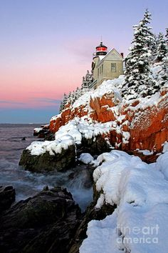 ✯ Early Winter Morning at Bass Harbor Head Light - Maine