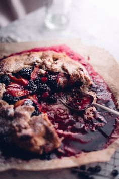 Summer Blackberry Plum Galette with Earl Grey Cream (Gluten Free) - Christiann Koepke Arrowroot Flour, All Fruits, Thing 1, Earl Grey Tea, Recipe Link, Vegan Cake, Blackberry, A Food, Food Processor Recipes