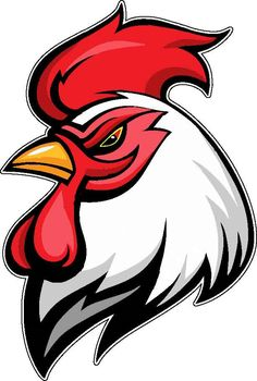 Illustration about Angry rooster mascot, team symbol, isolated on white. Illustration of mascot, white, pugnacious - 39863566 Rooster Tattoo, Rooster Logo, Rooster Art, Hahn Tattoo, Arte Do Galo, Logo Esport, Logo Animal, Chicken Logo, Cartoon Chicken