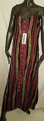 NWT Legacy multi color striped button down maxi dress size large L