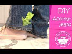 3 formas de acortar un pantalón vaquero, tejanos o jeans - YouTube