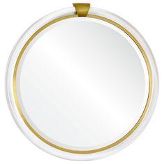 Mirror Image Home Acrylic Keystone Brass Mirror #laylagrayce