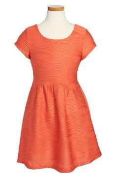 for LIL? - Roxette Wavy Knit Skater Dress (Big Girls) available at #Nordstrom