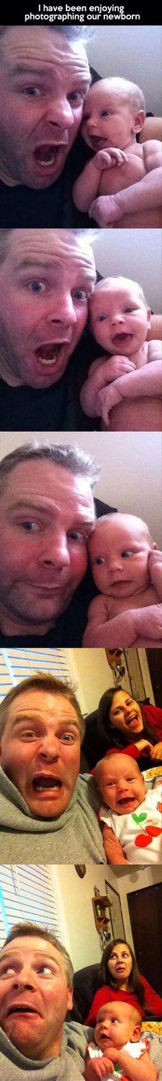 Funny kid photos | New borns are fun!