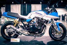 Suzuki Bikes, Suzuki Motorcycle, Racing Motorcycles, Cafe Racer Moto, Suzuki Cafe Racer, Custom Street Bikes, Custom Bikes, Suzuki Superbike, Transporter