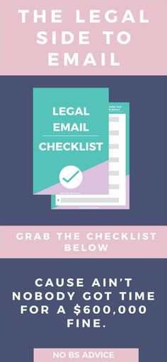 Don't miss any of these legal email marketing rules. Make sure to build your email list the right way. Make sure you send your email newsletters according to the main email marketing legal rules. How to build your email list, email strategies, email list building, how to increase your email subscribers