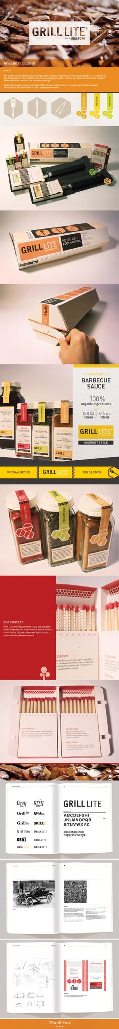 Grill Lite by Kingsford by Guea-Yea Lian on Behance. Clever #identity #packaging #branding PD