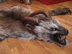 I'd happily have a demon pelt on my floor. Now there's a conversation piece ;)