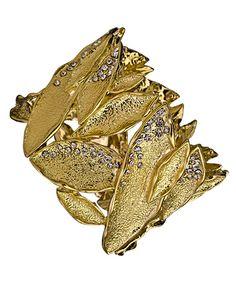 Blu Bijoux Gold Tone Rain Forest Bracelet