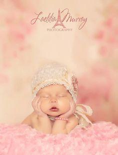 Dark pink newborn bracelet, photo prop, photography prop, newborn prop on Etsy, $5.00