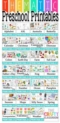 Free Thematic Preschool Printables